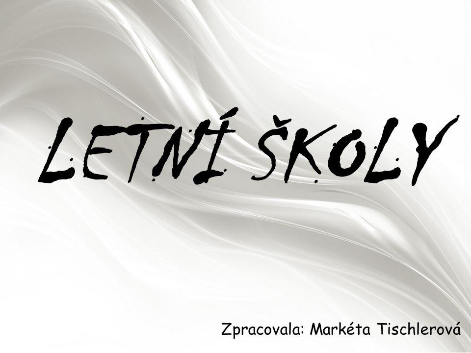 LETNÍ ŠKOLY Zpracovala: Markéta Tischlerová