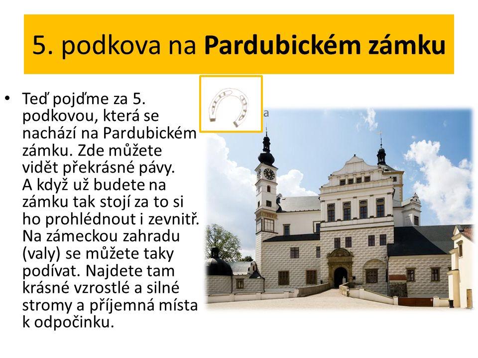 5. podkova na Pardubickém zámku Teď pojďme za 5. podkovou, která se nachází na Pardubickém zámku.