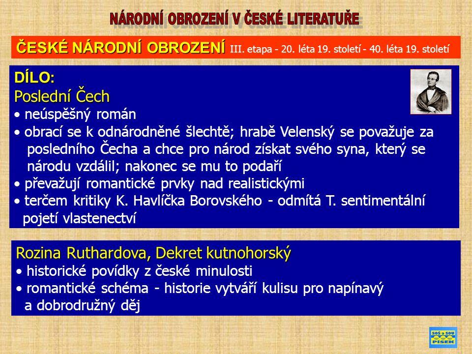 ČESKÉ NÁRODNÍ OBROZENÍ ČESKÉ NÁRODNÍ OBROZENÍ III.