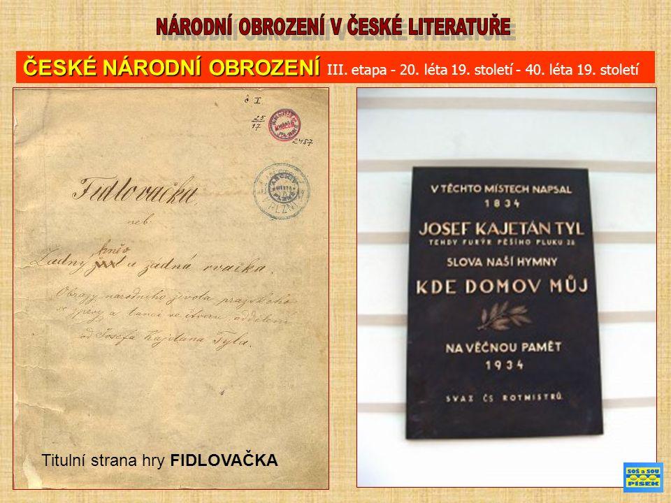Máchův deník (ukázka) 26.září 1835 Odpoledne próba na divadle, viděl jsem poprvé p.