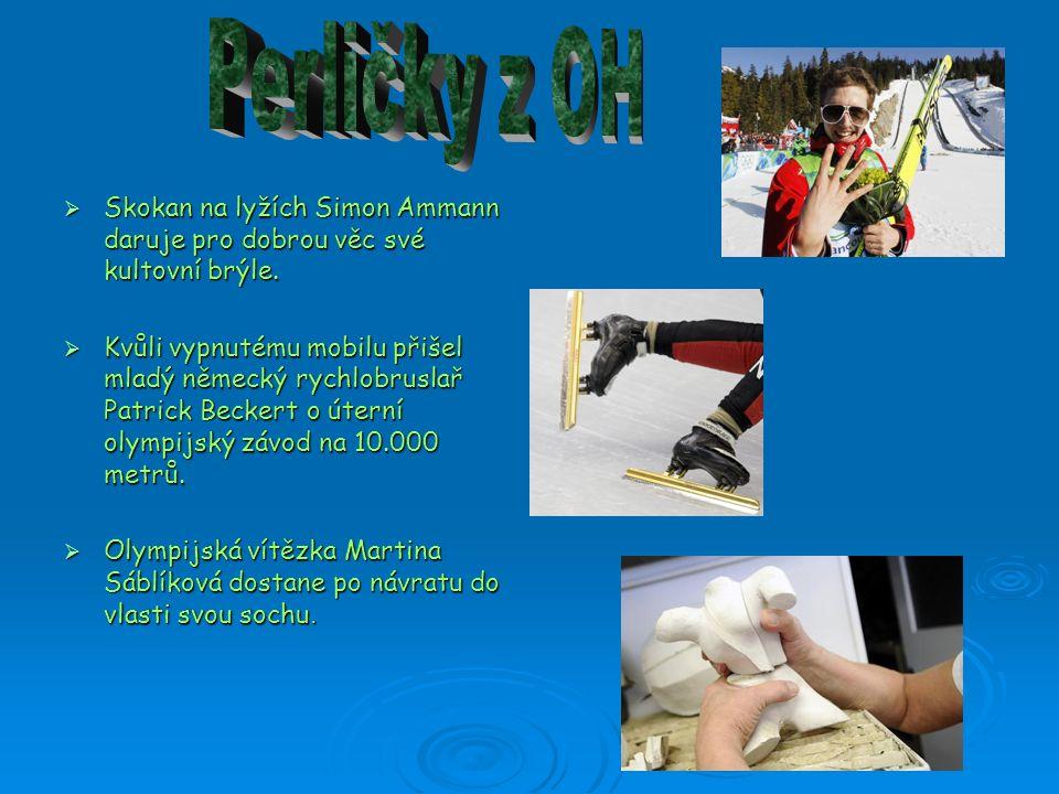  Skokan na lyžích Simon Ammann daruje pro dobrou věc své kultovní brýle.