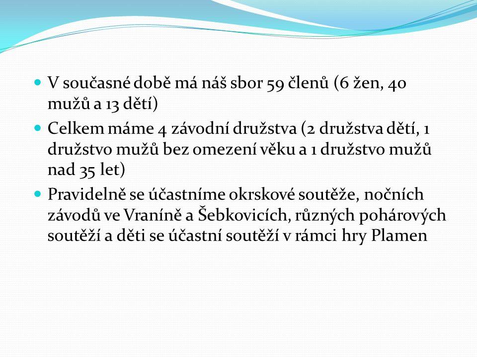V této sezóně jsme dosáhly těchto úspěchů okrsková soutěž v Moravských Budějovicích - družstvo bez omezení věku 3.
