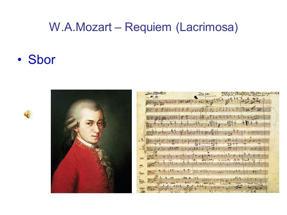 W.A.Mozart – Requiem (Lacrimosa) Sbor