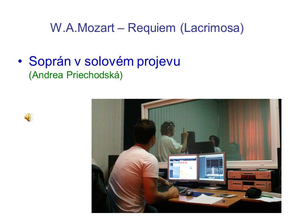 W.A.Mozart – Requiem (Lacrimosa) Soprán v solovém projevu (Andrea Priechodská)