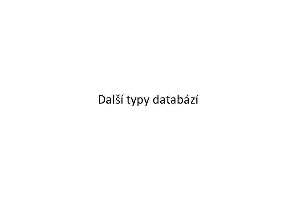 Další typy databází