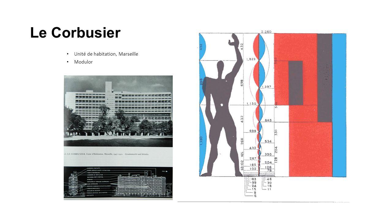 Le Corbusier Unité de habitation, Marseille Modulor