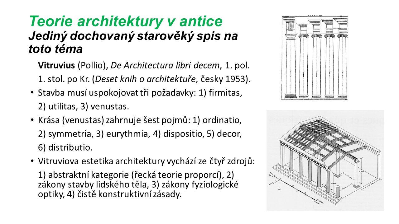Teorie architektury v renesanční Itálii Leone Battista Alberti, De re aedificatoria libri X, vyd.