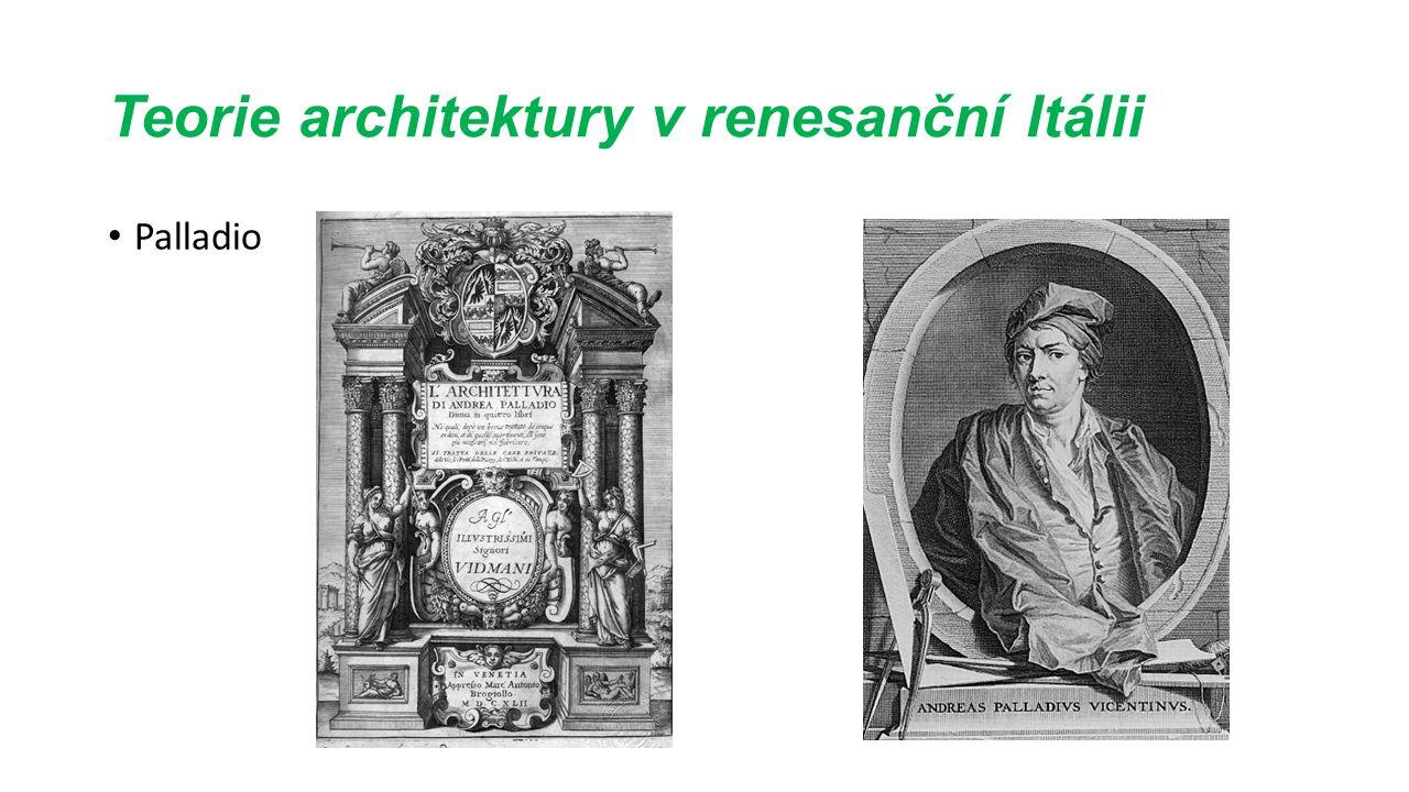 Teorie architektury v renesanční Itálii Palladio