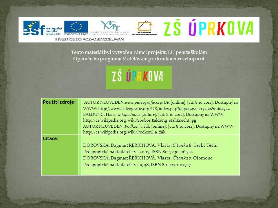 Použití zdroje: AUTOR NEUVEDEN.www.paleografie.org/UK [online]. [cit. 8.10.2012]. Dostupný na WWW: http://www.paleografie.org/UK/index.php?target=gall