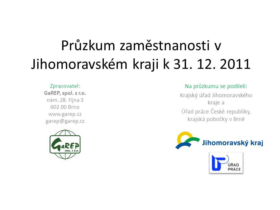 Průzkum zaměstnanosti v Jihomoravském kraji k 31. 12.