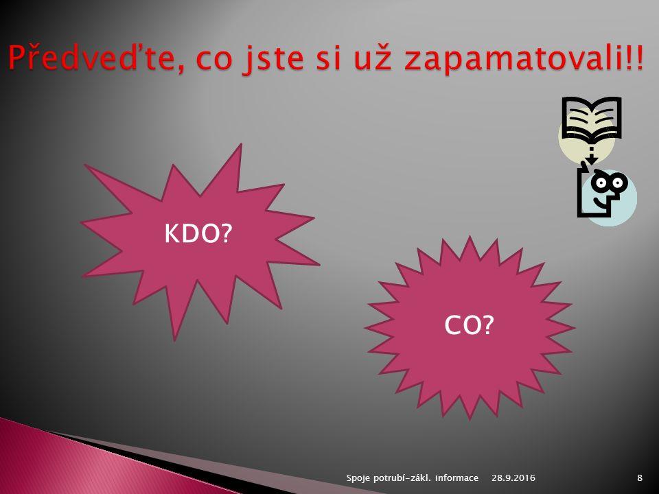 28.9.2016Spoje potrubí-zákl. informace8 KDO CO
