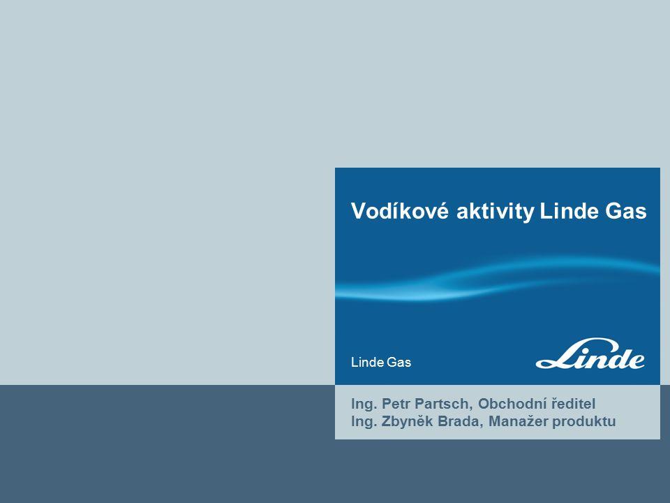 Linde Gas Vodíkové aktivity Linde Gas Ing. Petr Partsch, Obchodní ředitel Ing.
