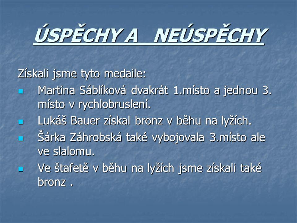Získali jsme tyto medaile: Martina Sáblíková dvakrát 1.místo a jednou 3.