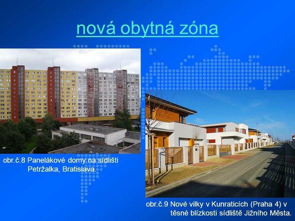 nová obytná zóna obr.č.8 Panelákové domy na sídlišti Petržalka, Bratislava.