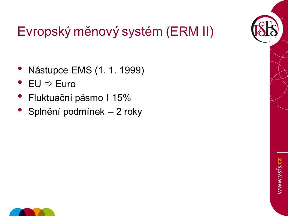 Evropský měnový systém (ERM II) Nástupce EMS (1. 1.