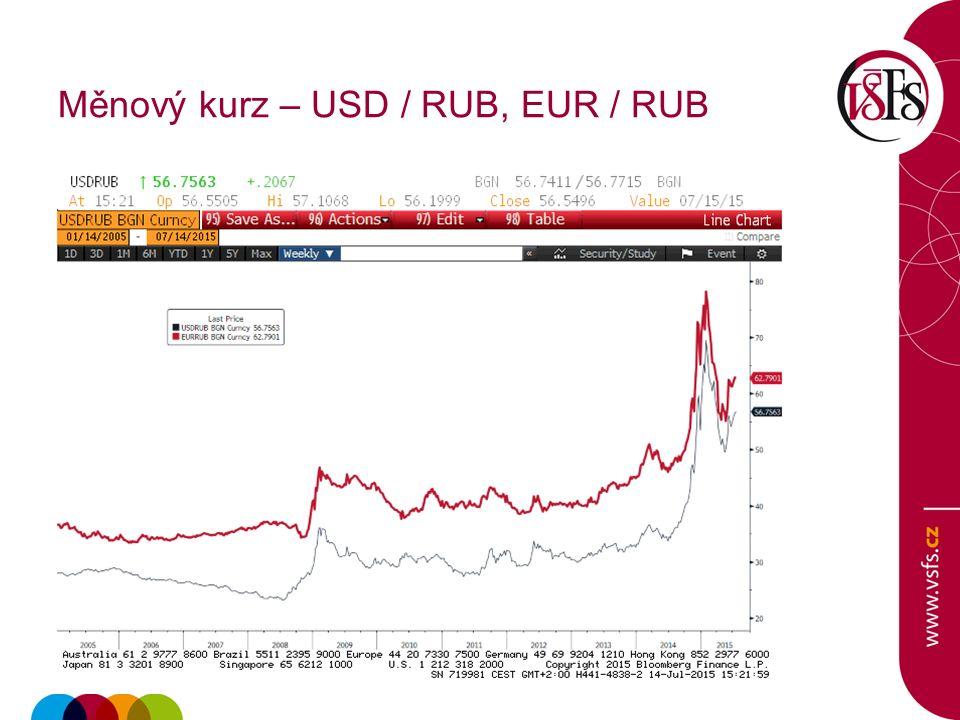 Měnový kurz – USD / RUB, EUR / RUB