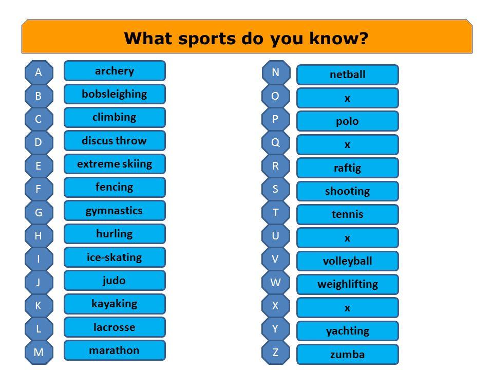 1.Do you do any sport.2.Do you like watching sports on TV.