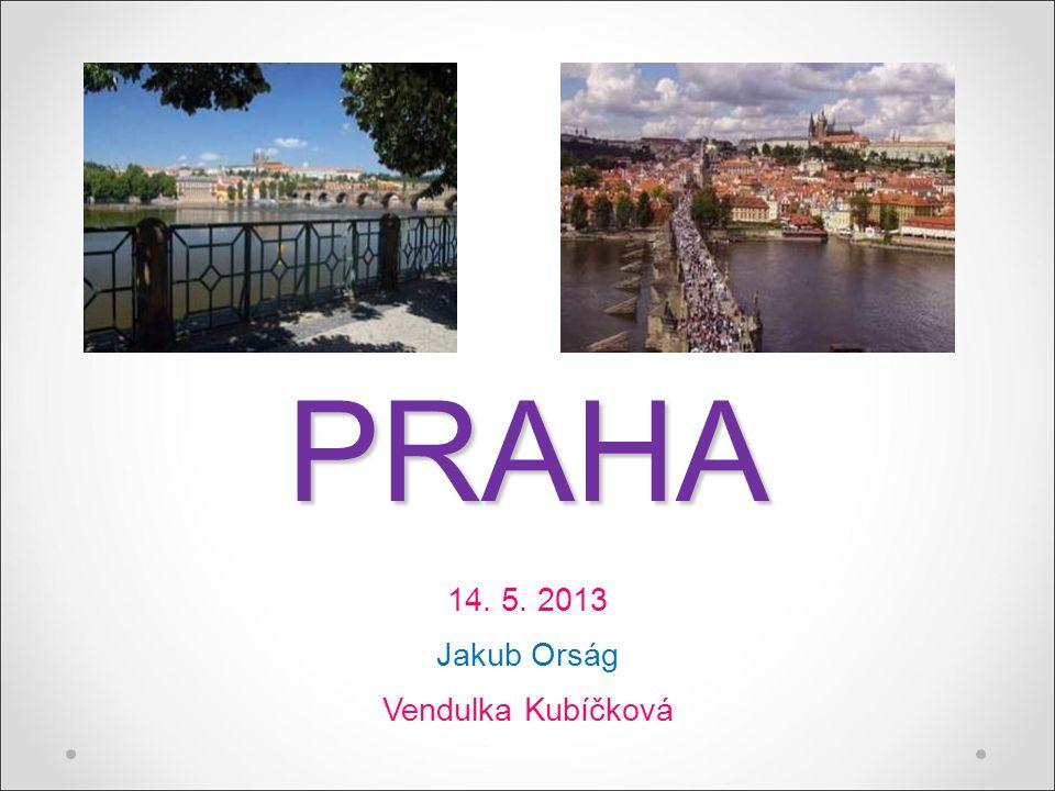 PRAHA 14. 5. 2013 Jakub Orság Vendulka Kubíčková