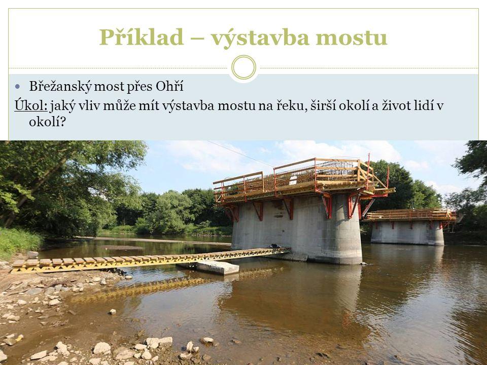 Příklad – výstavba mostu Břežanský most přes Ohří Úkol: jaký vliv může mít výstavba mostu na řeku, širší okolí a život lidí v okolí?