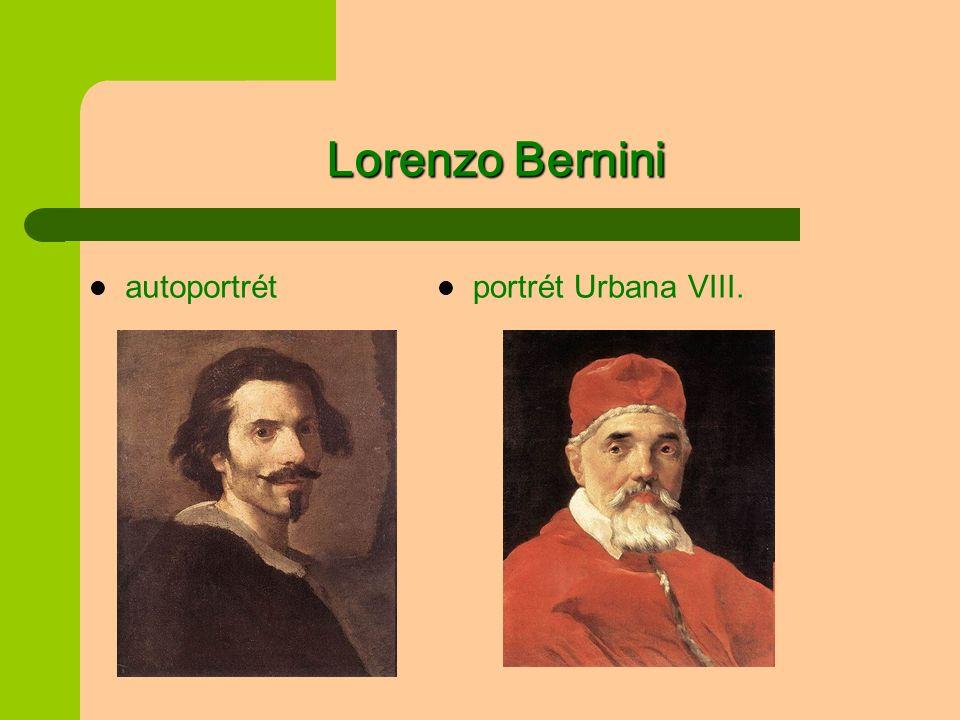 Lorenzo Bernini portrét Urbana VIII. autoportrét