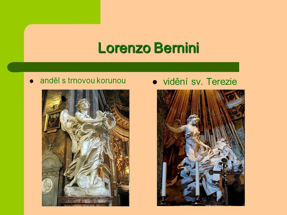 Lorenzo Bernini anděl s trnovou korunou vidění sv. Terezie