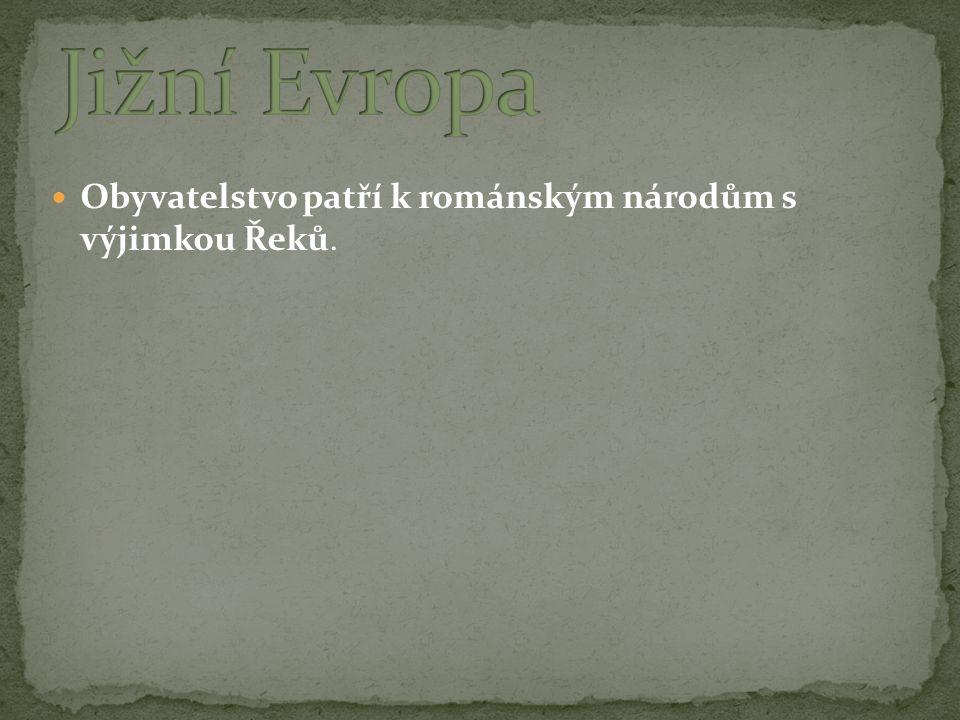 Obyvatelstvo patří k románským národům s výjimkou Řeků.