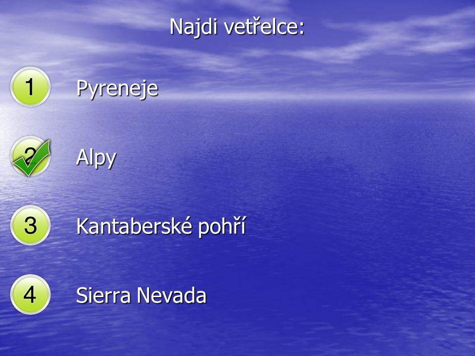 Pyreneje Alpy Kantaberské pohří Sierra Nevada