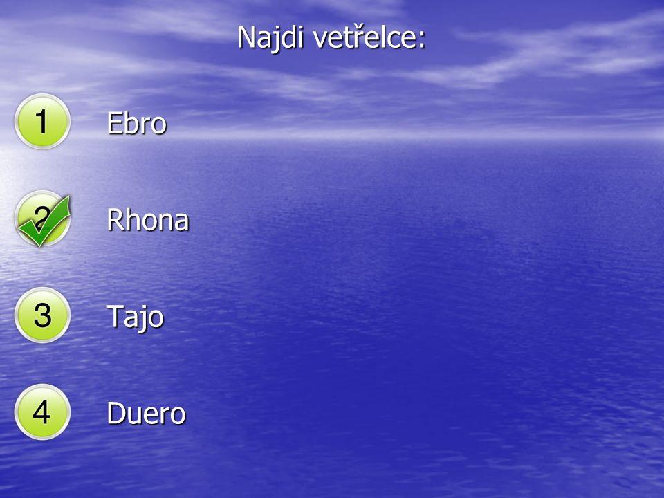 Najdi vetřelce: Ebro Rhona Tajo Duero