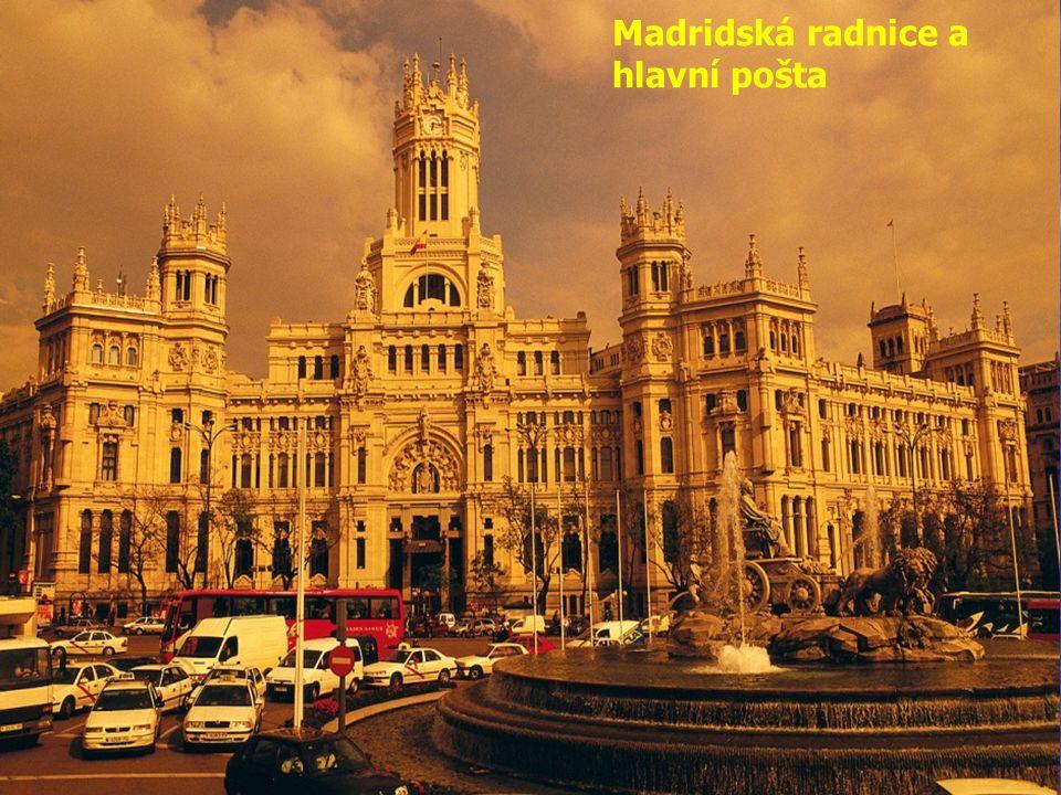 Madridská radnice a hlavní pošta