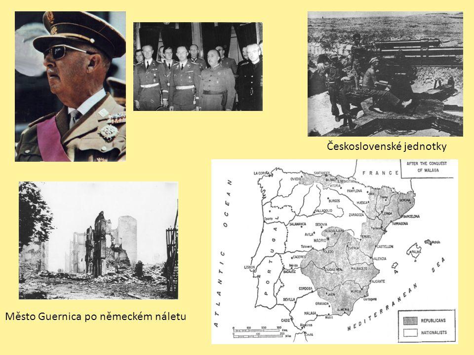 Město Guernica po německém náletu Československé jednotky
