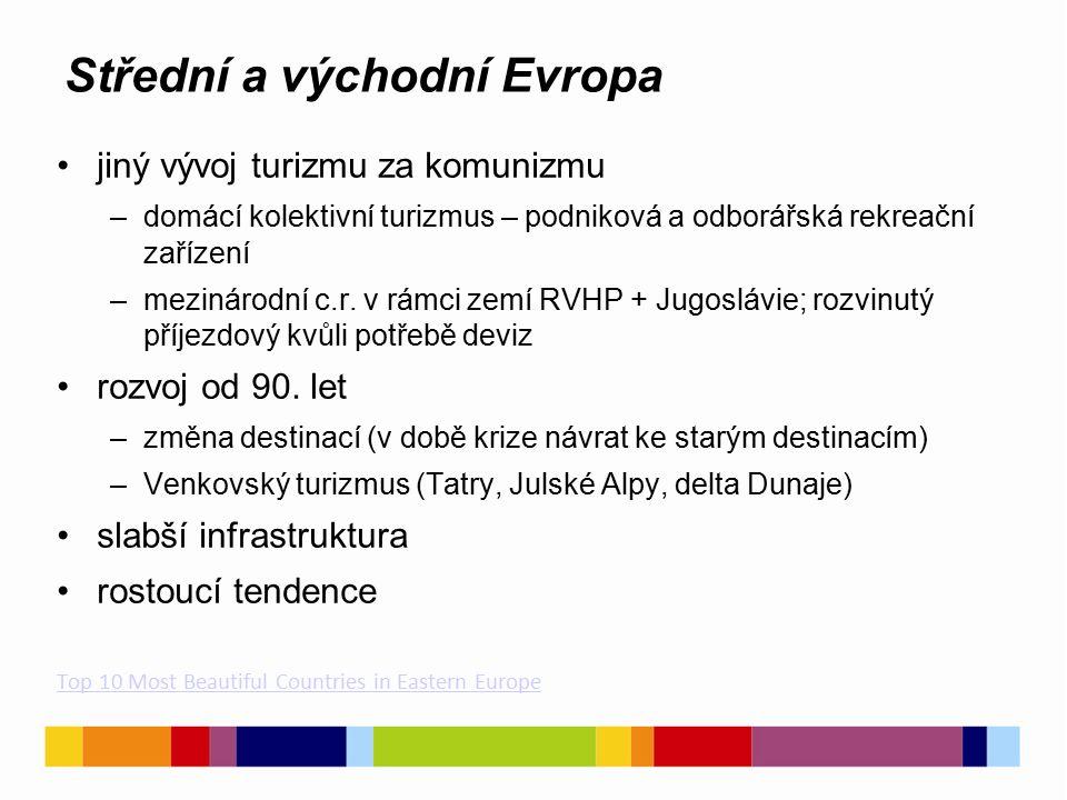 Severní Evropa především zdrojovým regionem jeho návštěvnost roste čisté životní prostředí nejvyšší výdaje na strávený pobyt (870 eur)