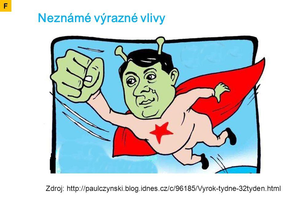 Neznámé výrazné vlivy F Zdroj: http://paulczynski.blog.idnes.cz/c/96185/Vyrok-tydne-32tyden.html