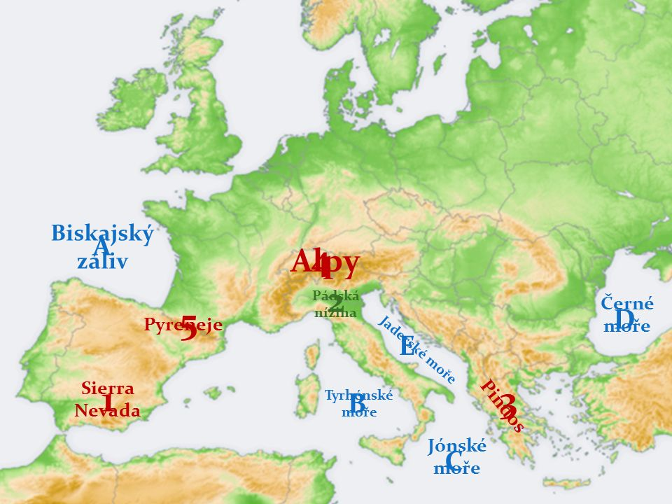 ! ! ! PRÁCE S MAPOU ! ! ! URČI JEDNOTLIVÉ POJMY 5 3 1 4 E D C B A ŠpanělskoLisabon Andorra Itálie LublaňSarajevoSrbsko Athény Albánie 2 Makedonie