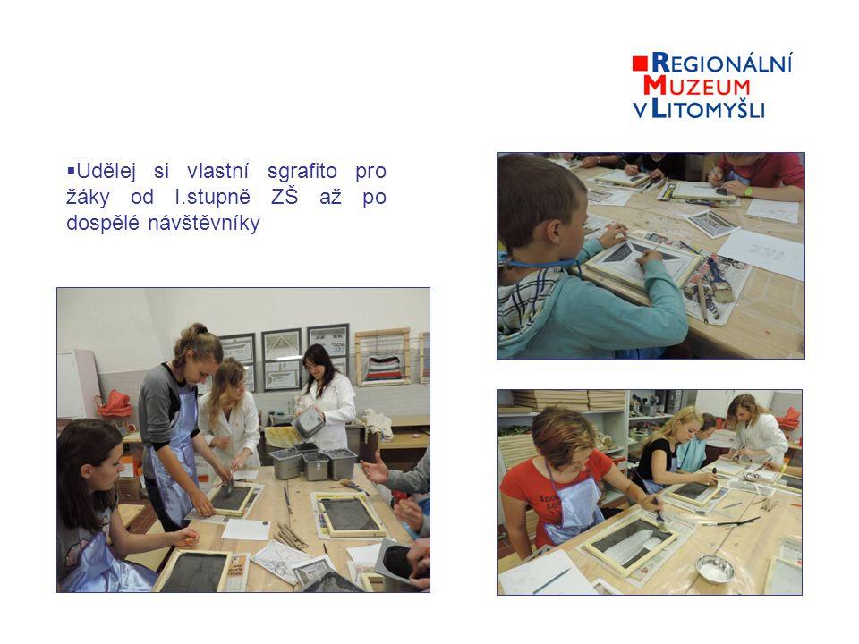  Udělej si vlastní sgrafito pro žáky od I.stupně ZŠ až po dospělé návštěvníky