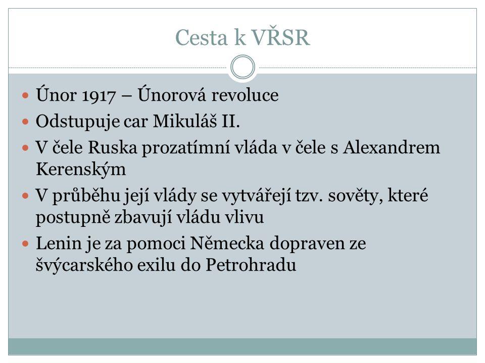 Cesta k VŘSR Únor 1917 – Únorová revoluce Odstupuje car Mikuláš II.