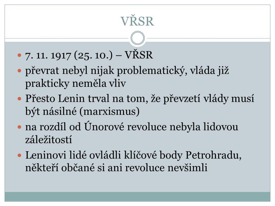 VŘSR 7. 11. 1917 (25.