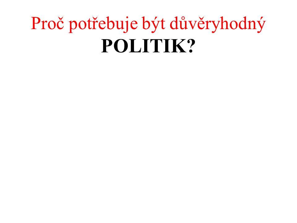 Proč potřebuje být důvěryhodný POLITIK.