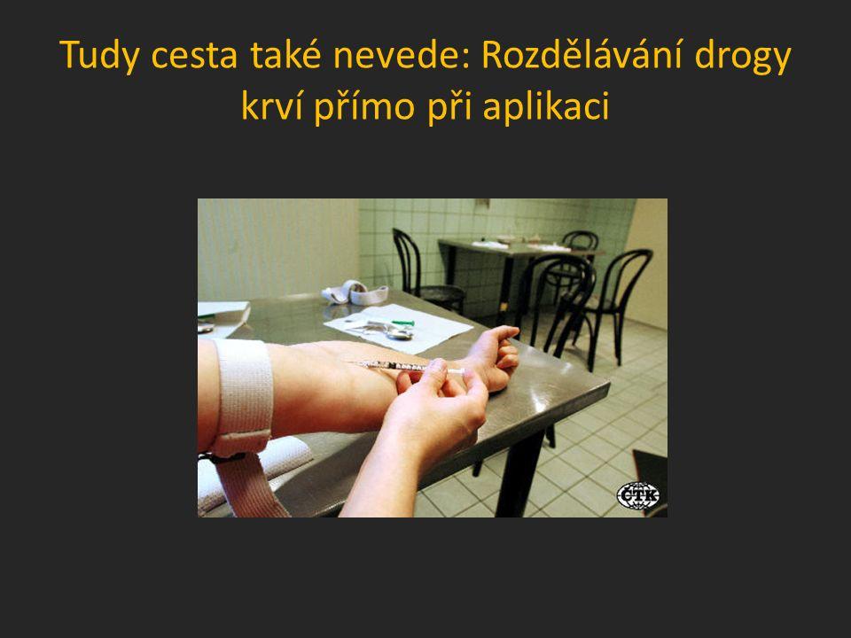 Tudy cesta také nevede: Rozdělávání drogy krví přímo při aplikaci