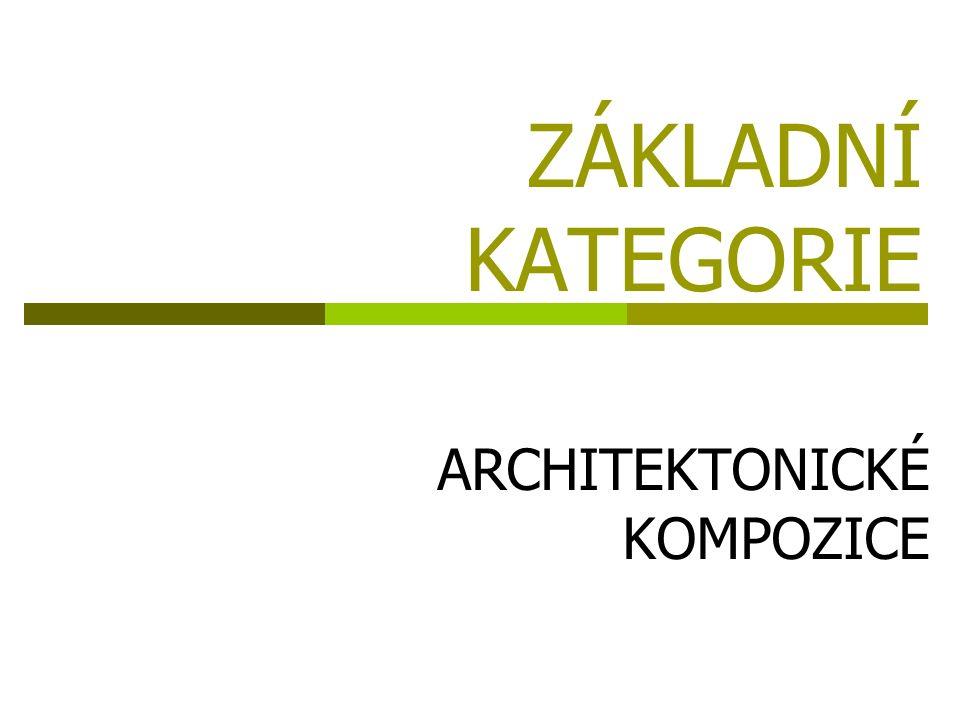 ZÁKLADNÍ KATEGORIE ARCHITEKTONICKÉ KOMPOZICE