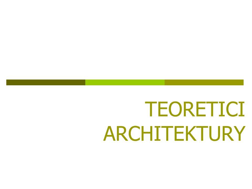 TEORETICI ARCHITEKTURY