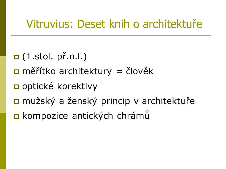 Vitruvius: Deset knih o architektuře  (1.stol.