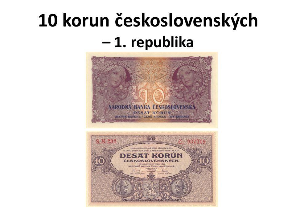 10 korun československých – 1. republika