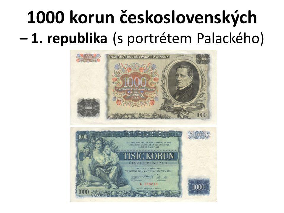 1000 korun československých – 1. republika (s portrétem Palackého)