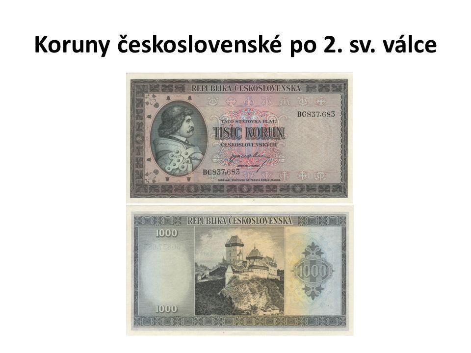 Koruny československé po 2. sv. válce