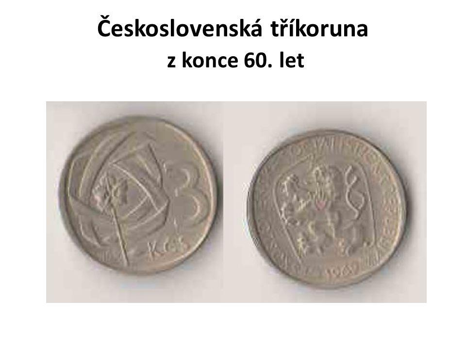 Československá tříkoruna z konce 60. let