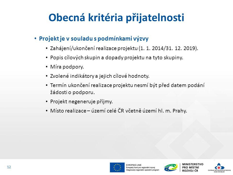 Projekt je v souladu s podmínkami výzvy Zahájení/ukončení realizace projektu (1.