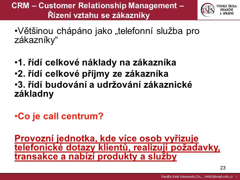 """22 PaedDr.Emil Hanousek,CSc., 14002@mail.vsfs.cz :: Reakce na DM zásilky 10% lidí ji zahodí bez otevření- vědí co v tom je podle odesilatele 50% lidí je zahodí po """"přečtení , které trvá 10-15 vteřin 20% lidí je zahodí po přečtení, které trvá 60% 10% lidí je """"přečte a uloží """"na pozdější dobu do šuplíku, šanonu a zapomene na ni 10% lidí je uloží na hromádku na stole (tzv.vyhnívací hromádka) ------------------------------------------------------------------ Průměrně 2-3% lidí reagují na direct mail okamžitě"""