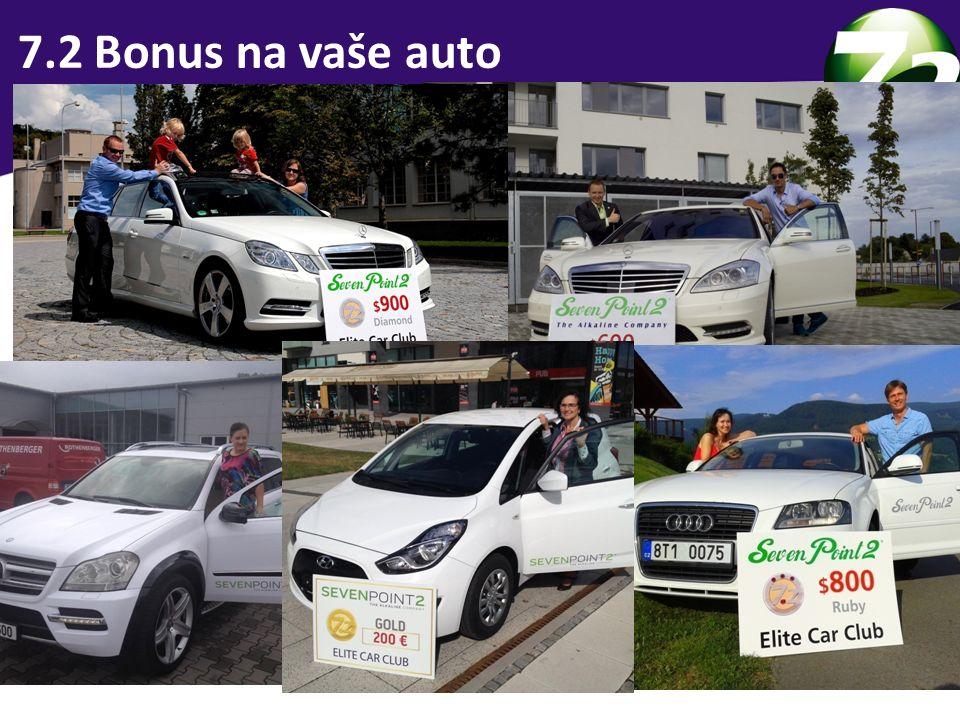 3 skupiny lidí 7.2 Bonus na vaše auto