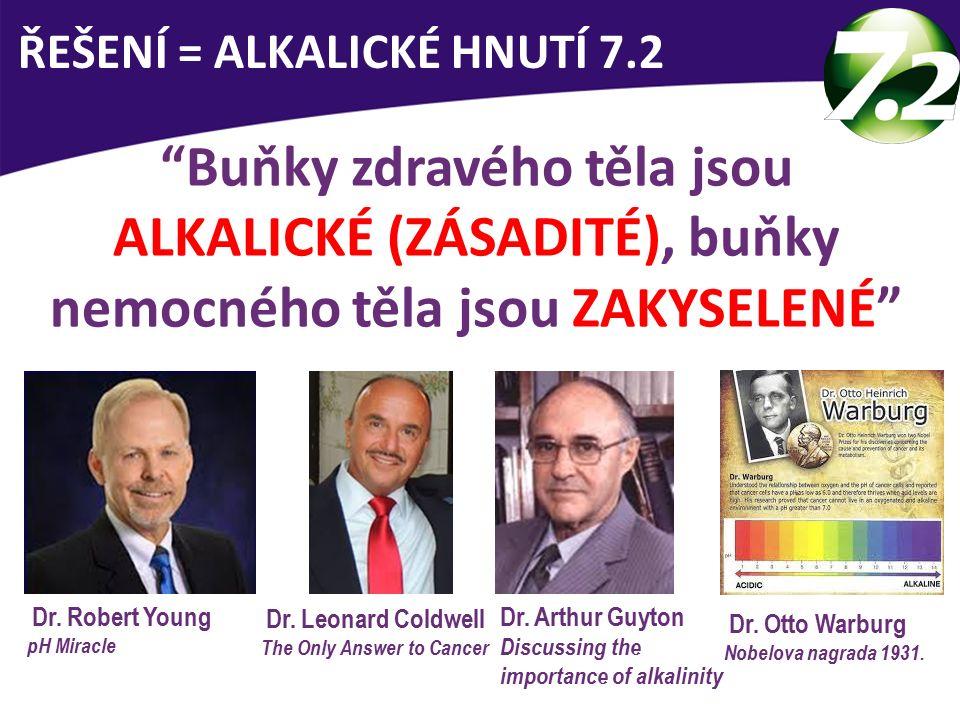 Buňky zdravého těla jsou ALKALICKÉ (ZÁSADITÉ), buňky nemocného těla jsou ZAKYSELENÉ ŘEŠENÍ = ALKALICKÉ HNUTÍ 7.2 Dr.