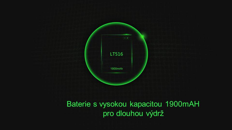 Baterie s vysokou kapacitou 1900mAH pro dlouhou výdrž